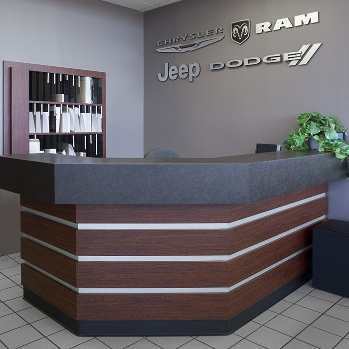 Chrysler Dealership Reception Desk
